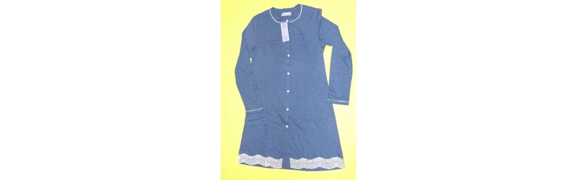 Camicie da notte cotone manica lunga